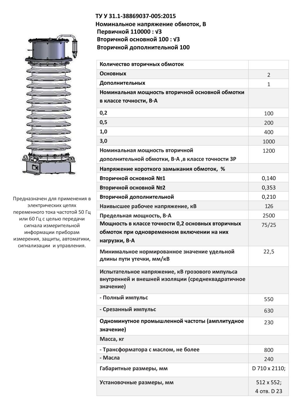 НКФА – 123 II УХЛ1 0,2