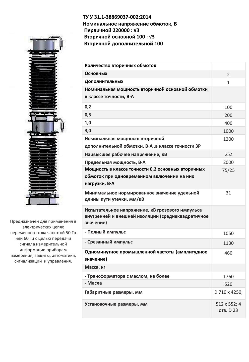 НКФА – 245 IV УХЛ1 0,2