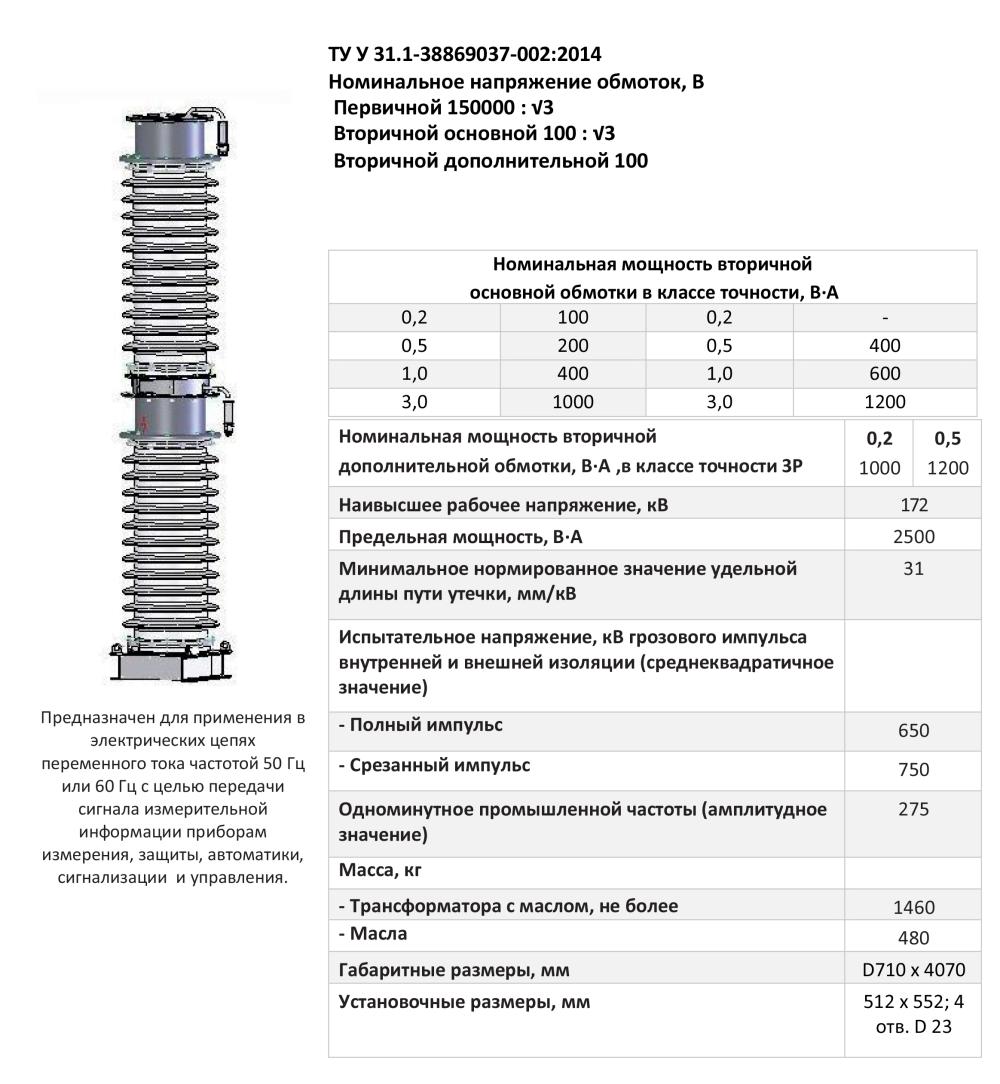 НКФ – 170 IV Y1, НКФ – 170 IV ХЛ1