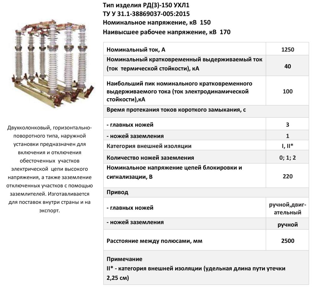 РД(З)-150 УХЛ1