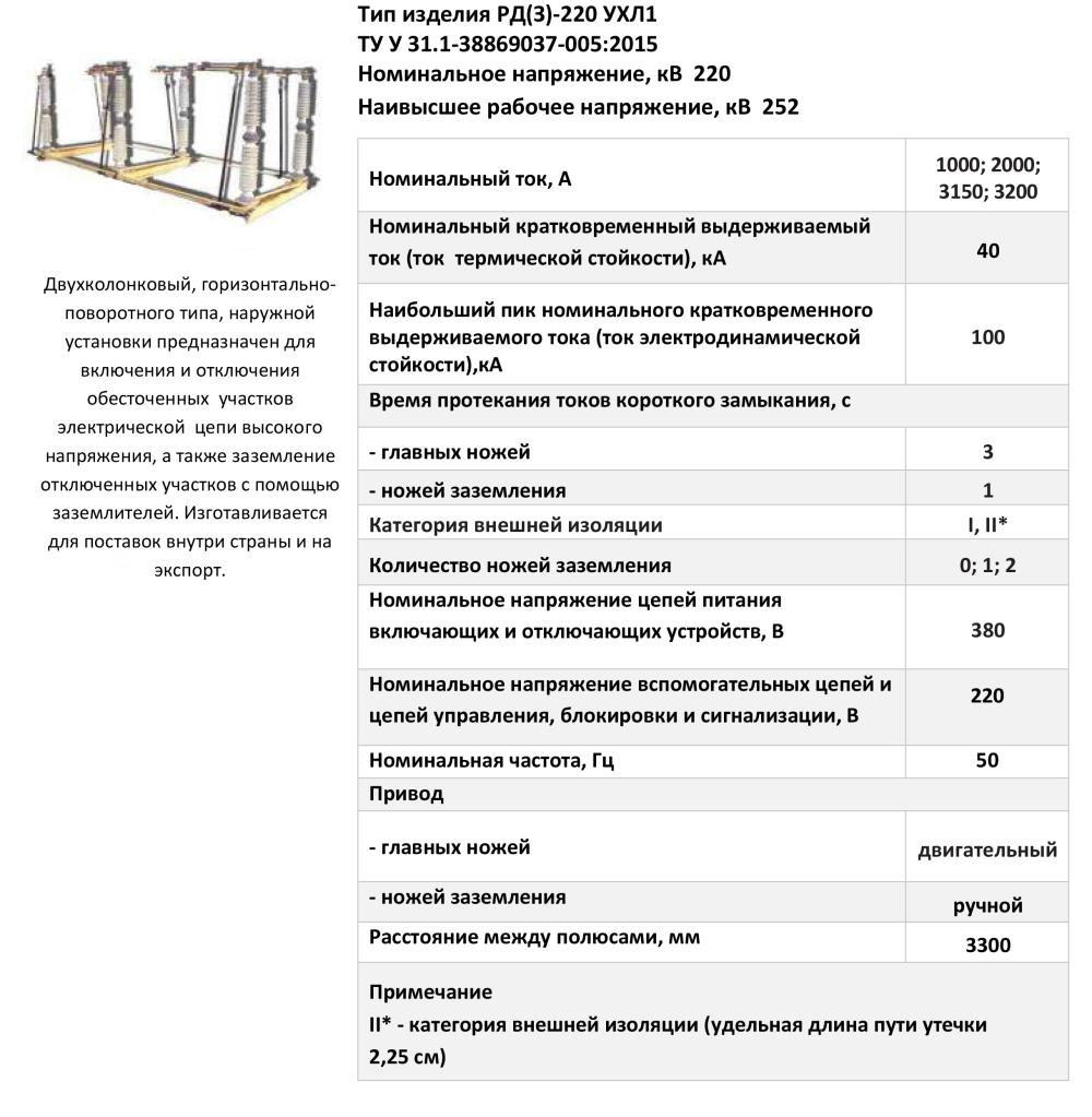 РД(З)-220 УХЛ1