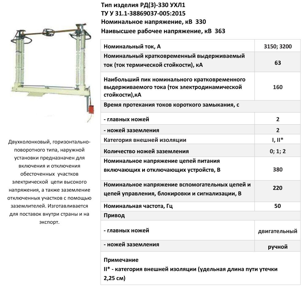 РД(З)-330 УХЛ1
